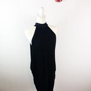 [LOVE TEASE] Halter Neck Sequin Bodycon Dress